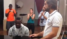 Mario Balotelli Plays the Italian National Anthem on the Piano for Andrea Pirlo (Video)