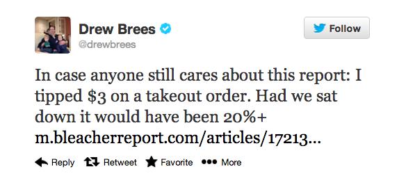 brees tweet