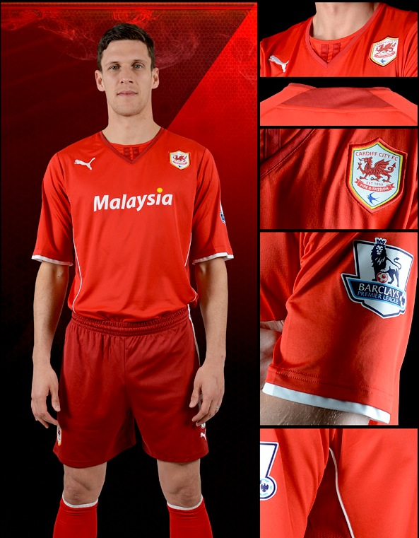 cardiff city (home) - new premier league jerseys 2013 copy