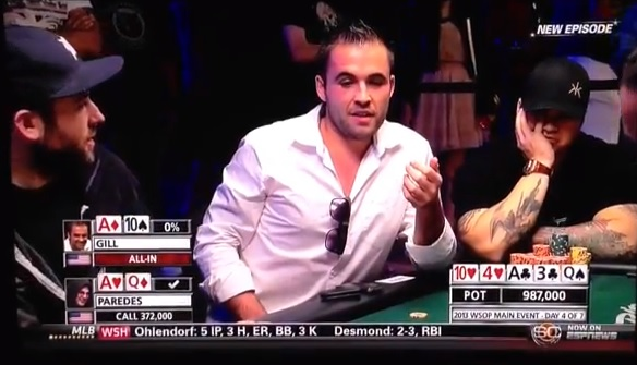 carter gill bad beat reaction 2013 wsop