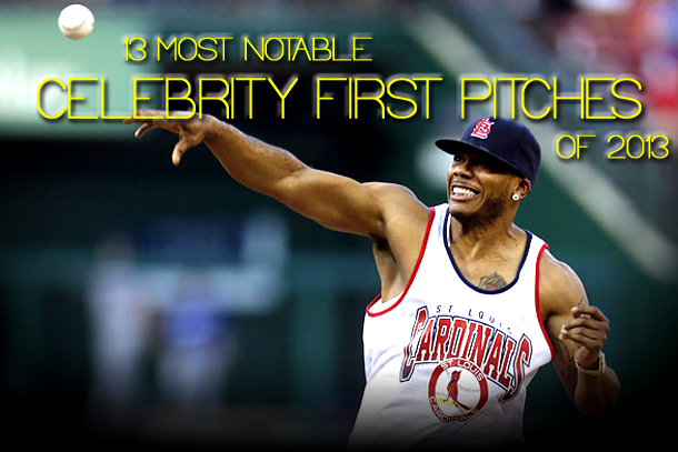 Nelly throws out first pitch at Busch Stadium - celebrity first pitches 2013