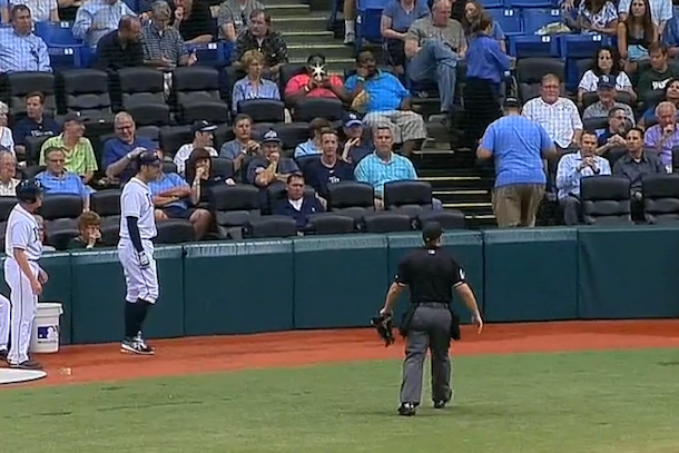cell phone camera flash delays rays angles baseball game