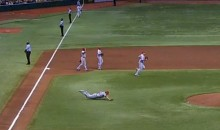 Here's C.J. Wilson Tripping and Falling on His Way To The Mound (Video)