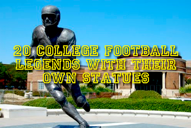 college football legends statues