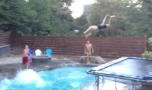Now THIS Is the Best Swimming Pool Basketball Alley-Oop Trick Shot Dunk Ever (Video)