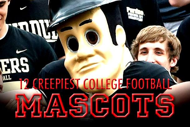 creepy college football mascots