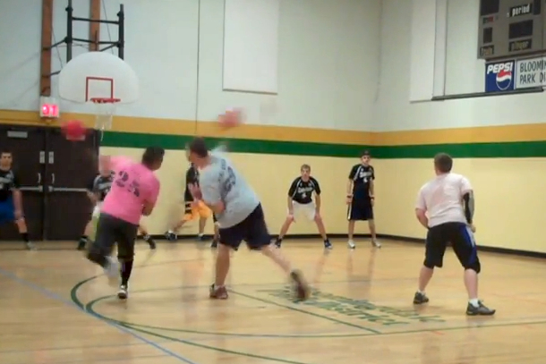 dodgeball double catch