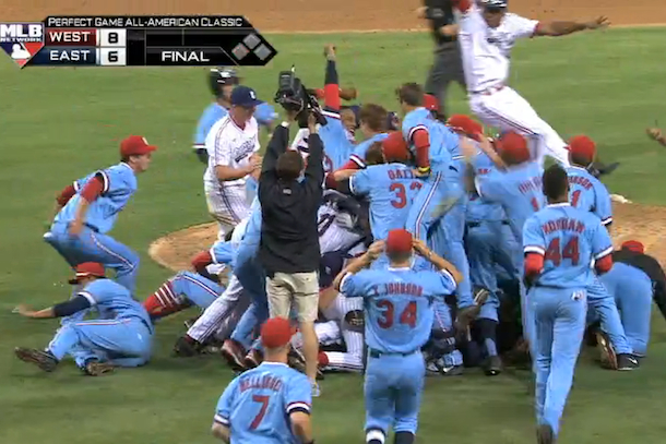 double pile-up high school all-american game