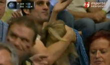 Couple Caught in the Act at Volleyball Game—and Yes, It's Exactly What You Think (Video)