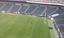Lincoln Field Security Guards Practice Tackling Fans Who Run onto the Field (Video)