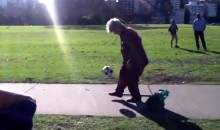 Just an Old Lady with Crazy Freestyle Soccer Skills. No Big Deal. (Video)