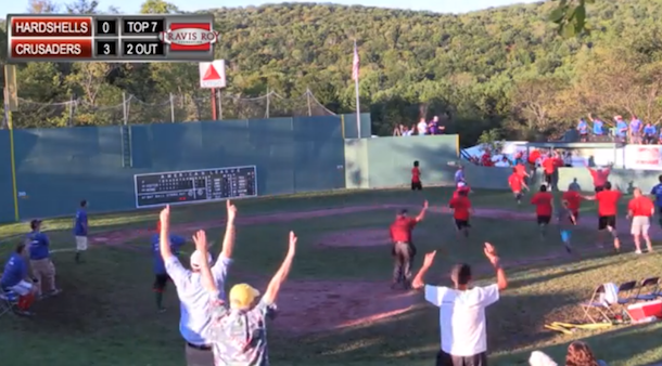 great wiffleball catch at little fenway