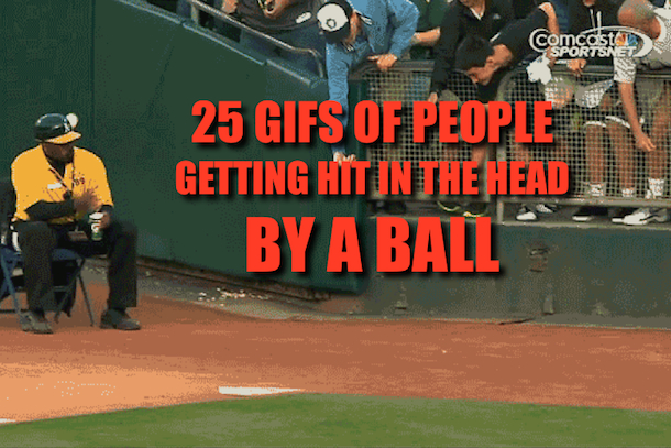 hit in the head by ball gifs