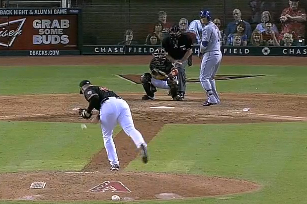 j.j. putz distracted during pitch