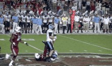 Did a UNC Player Try to Take Out Jadeveon Clowney's Knee? (GIFs)