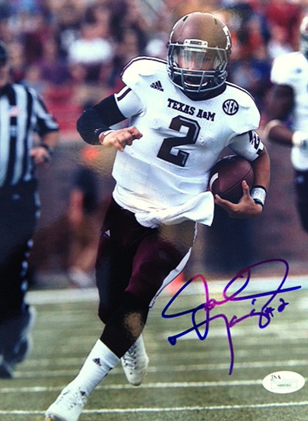 johnny manziel autographed photo