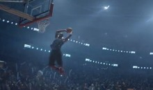 LeBron James Finally Takes Part in a Dunk Contest…in a Nike Commercial (Video)