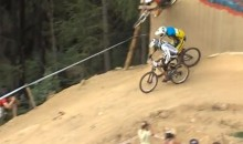 Michal Marosi Rides the Wall and Makes an Unbelievable Pass During a 4X Mountain Biking Race (Videos)