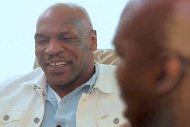 mike tyson and evander holyfield talk about the bite
