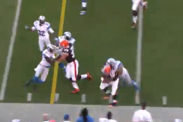 ndamukong suh big hit on treat richardson