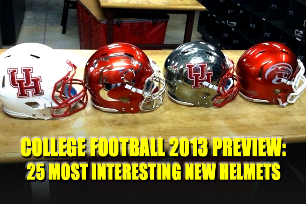 new college football helmets 2013