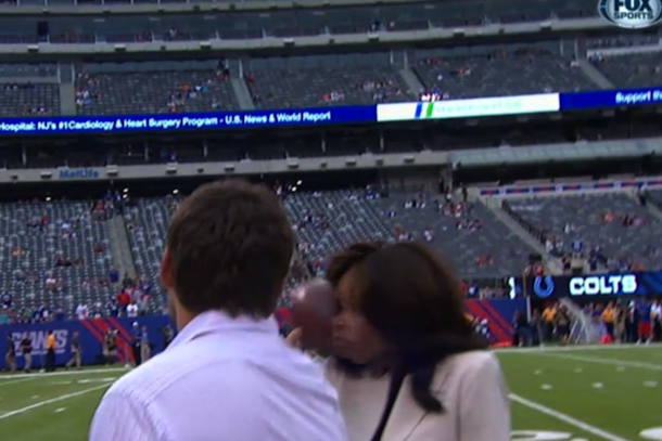 pam oliver hit in face by football