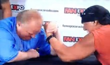 Toronto Mayor Rob Ford Beat Hulk Hogan in an Arm Wrestling Match Today (Video)