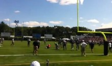 Here's Footage of Tom Brady Injuring His Knee at Patriots Practice (Video)