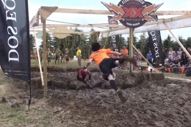 tough mudder clothesline strangle