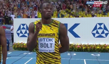 Here's Usain Bolt Protecting Himself from the Rain with an Imaginary Umbrella (GIF)