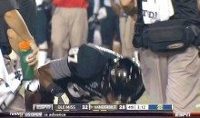 Vanderbilt Player Pukes All Over the Field (GIF)