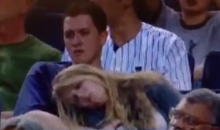 Yankee Fan Gropes His Passed Out Girlfriend (Video)