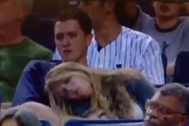 yankees fan cops feel on passed out chick