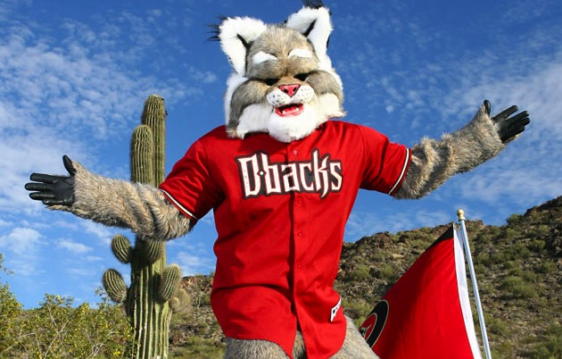 1 baxter the bobcat diamondbacks mascot - disturbing mlb mascots