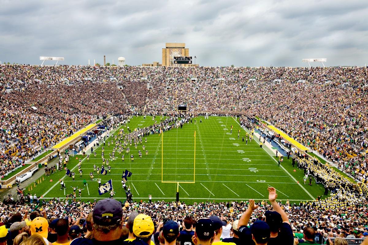 1 notre dame stadium (notre dame) - best college football stadiums