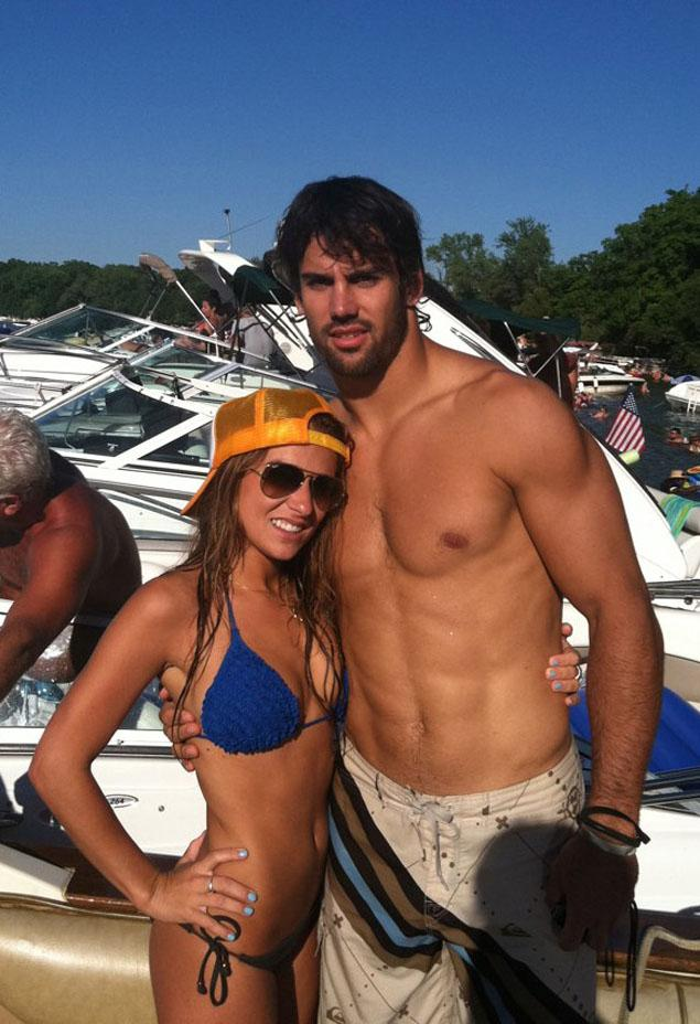 10 eric decker (broncos) and fiance jessie james (country singer) - athlete celebrity couples