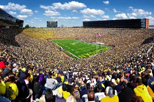 10 michigan stadium big house - best college football stadiums