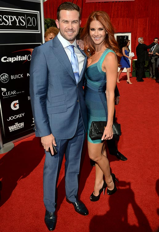 11 evan longoria (rays) and jaime edmondson (playboy) - athlete celebrity couples