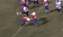 11-Year-Old Football Player Hurdles Defender, Scores Touchdown (Video)