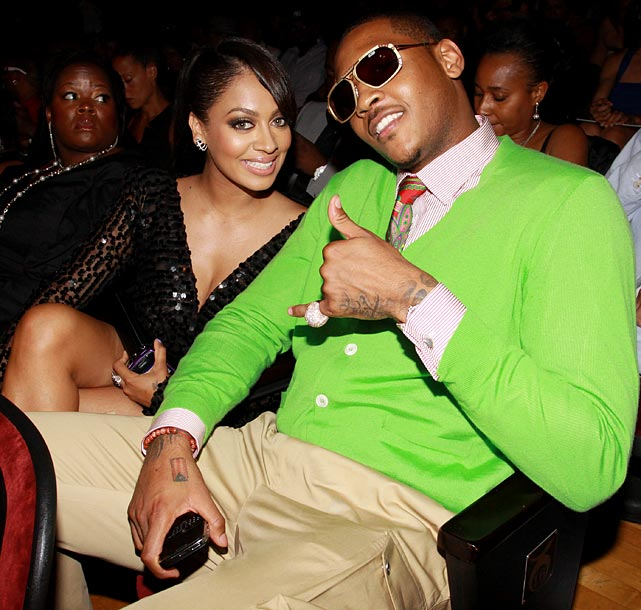 16 carmelo anthony and la la vazquez - athlete celebrity couples