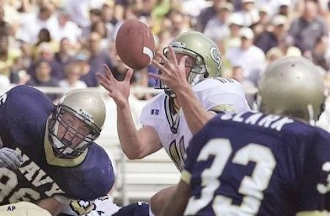 23 georgia tech navy 2001 - biggest blowouts college football history