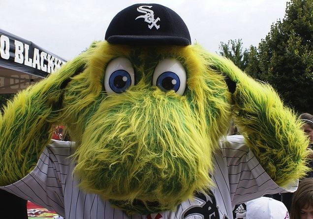 4 southpaw white sox mascot - disturbing mlb mascots