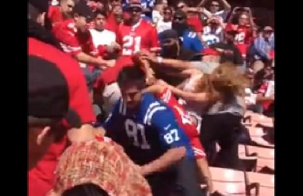 49ers colts fan brawl