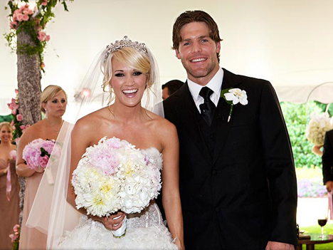 7 mike fisher (predator) and carrie underwood - athlete celebrity couples