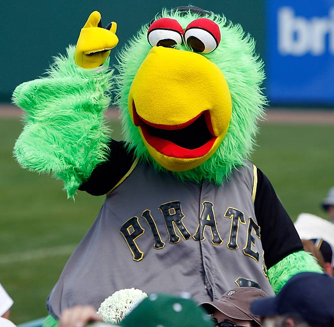 8 pirate parrot mascot - disturbing mlb mascots