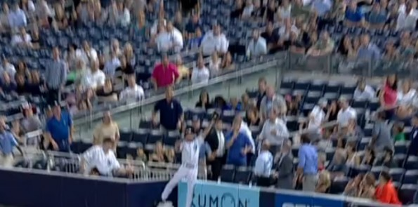 Ball Boy Leaping Catch