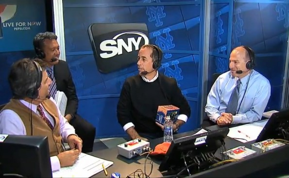 Jerry Seinfeld Mets broadcast booth