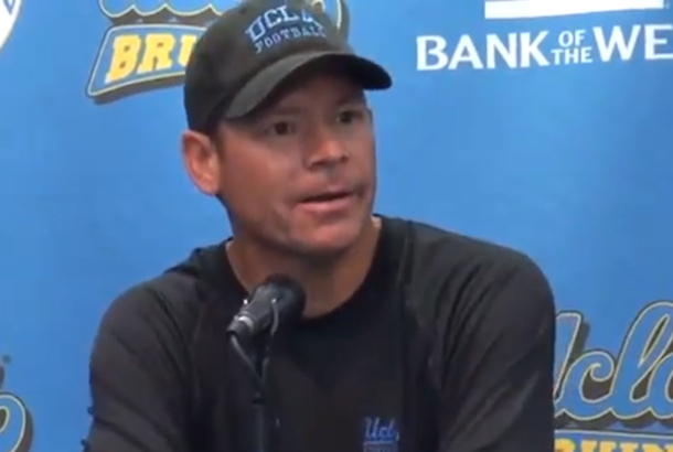Jim Mora UCLA football coach press conference