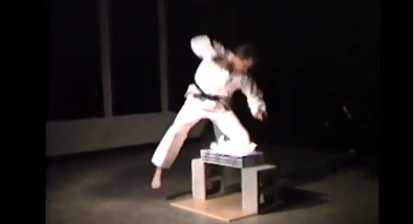 Karate Man Sets Self On Fire