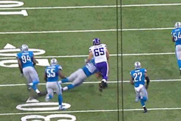 Ndamukong Suh dirty hit to the knees